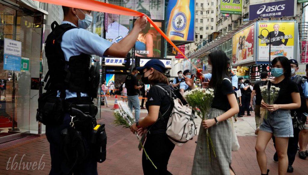 ตำรวจฮ่องกงถูกแทง